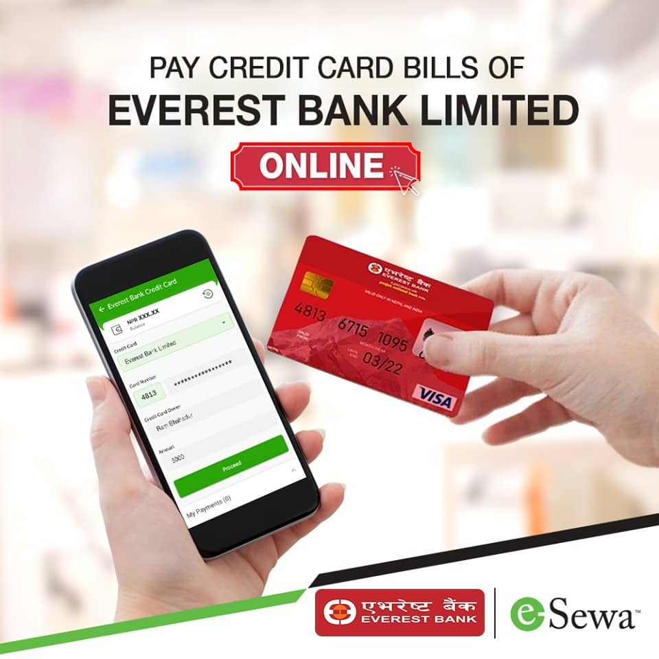 Pay Everest Bank Credit Card Bills Online with eSewa